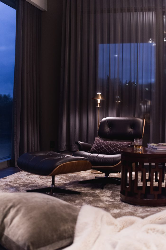 Toronto condo with ripple fold sheer drapery panels